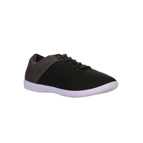 Gliders By Liberty black mesh lace up sneakers