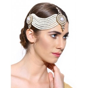 Zaveri Pearls White Beaded Passa