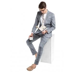 TRUE BLUE  Stone Blue Slim-Fit American-Style Blazer