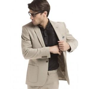 TRUE BLUE  Beige Slim-Fit American-Style Blazer