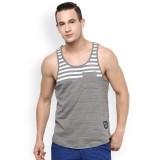 Atorse Grey Striped Innerwear Vest