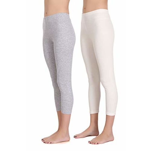 Selfcare Set of 2 Women's Thermal Bottom Grey, White