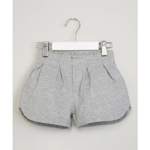 Max Short For Girls Casual Solid Pure Cotton(Grey, Pack of 1)