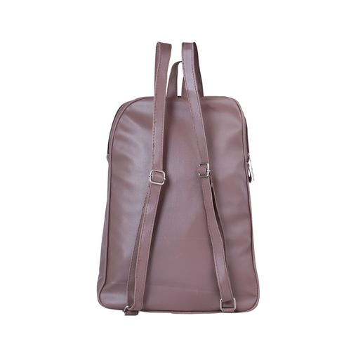 RPC Bags grey leatherette fashion backpack