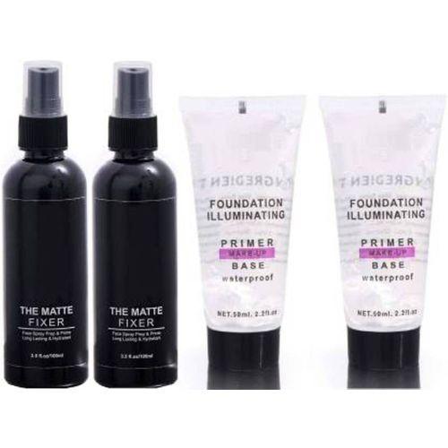 Anytime shops anytimeshops combo matte fixer and primer Primer - 300 ml(Transparent, Black)