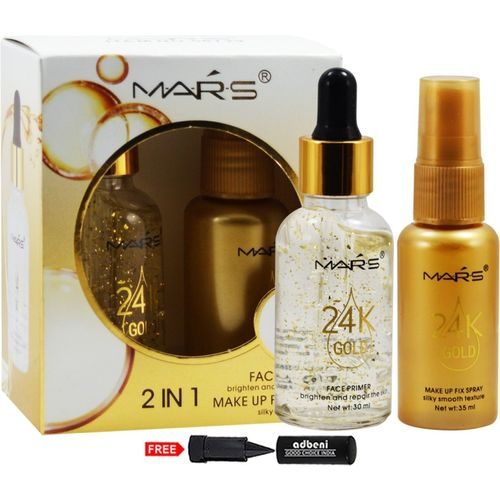 Mars 2in1 Face Primer and Makeup Fix Spray-58739 Primer - 65 ml(Natural)