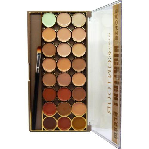 firstzon™ firstzon 24 color contour highlight cream palette Concealer(multicolor, 70 g)