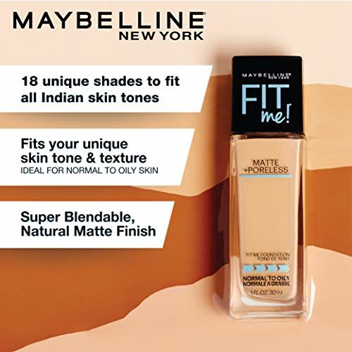 Maybelline New York Fit Me Matte+Poreless Liquid Foundation (With Pump), 115 Ivory, 30ml