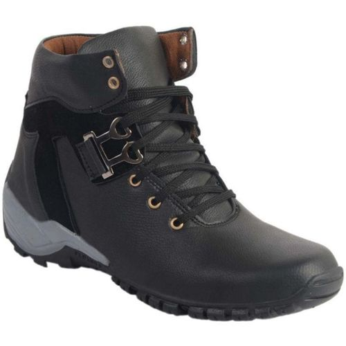 RJ India Black Boots Boots For Men(Black)
