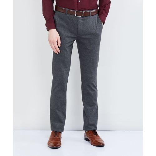 Max Regular Fit Men Grey Trousers