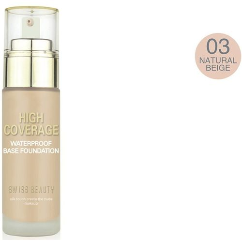 Swiss Beauty Foundation (High Coverage) Natural Beige Foundation(Natural Beige, 50 ml)