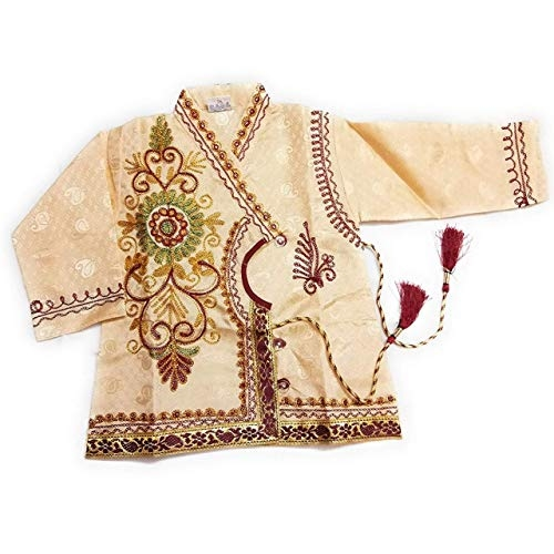 Jinie Baby Beige Silk Cotton Blend Dhoti Kurta