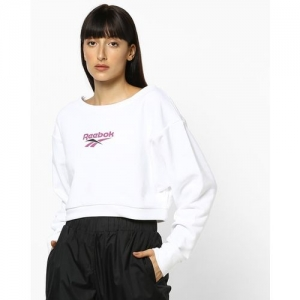 Reebok Classic Crew-Neck Sweatshirt with Branding