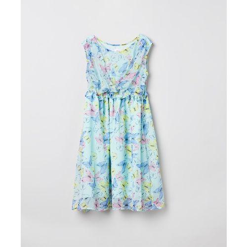 Max Midi/Knee Length Casual Dress(Blue, Sleeveless)