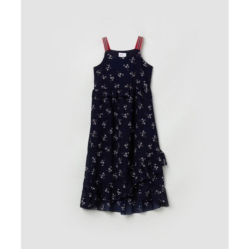 Max Midi/Knee Length Casual Dress(Blue, Sleeveless)