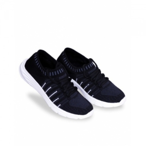 SUKUN Black EVA Lace up Slip-On Sports Shoes