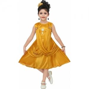 Chandrika Mustard Midi/Knee Length Casual Dress