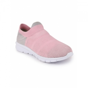FAUSTO Pink Mesh Slip On Sports Shoes