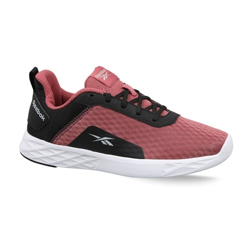 Reebok Pink Synthetic Mesh Lace Up Running Shoes
