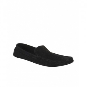 San Frissco Black Suede Leather Slip On Loafers