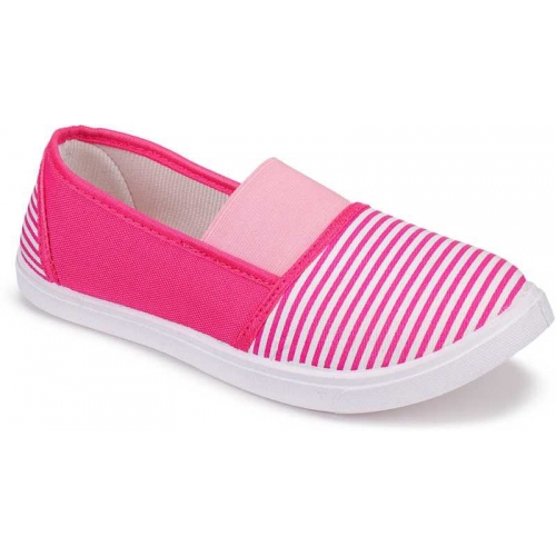 World Wear Footwear Pink Canvas Round Toe Casual shoes