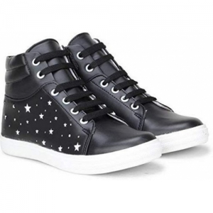 Clymb Black Synthetic Round Toe Lace-up Sneakers