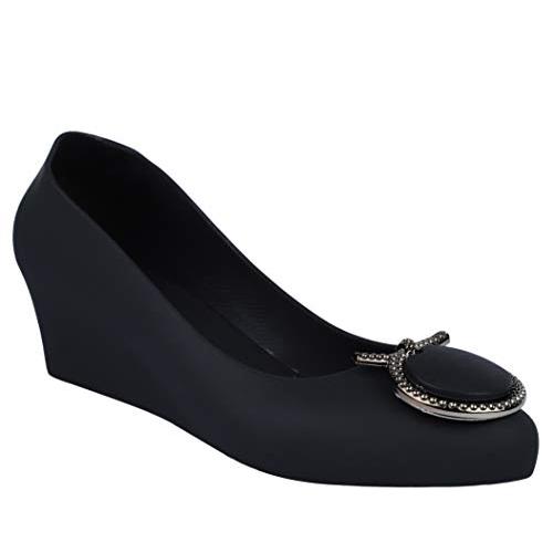 Lrsoe Black Synthetic Leather Slip on Ballet Flat