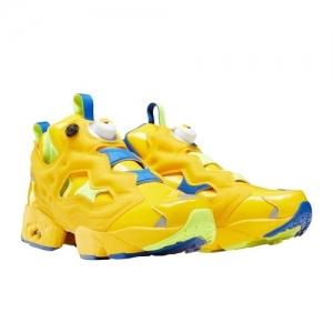 Reebok  Yellow Leather Low Ankle Sneaker