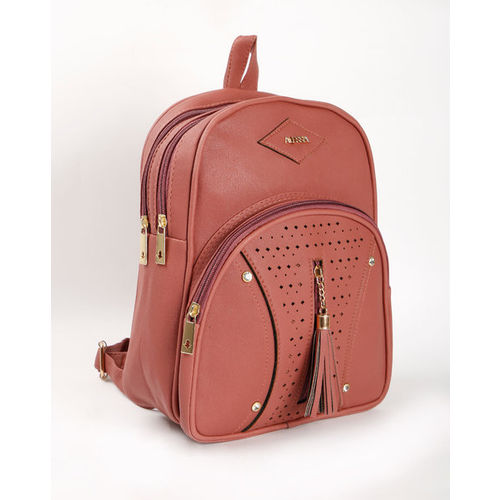 Alessia74 Laser-Cut Backpack with Tassel