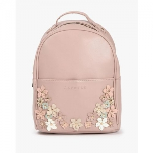 CAPRESE Textured Backpack with Floral Appliques