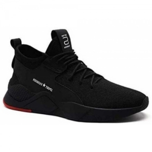 Aadi Black Mesh Lace Up Running Shoes