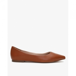 Carlton London Brown Synthetic Pointed Toe Bellies