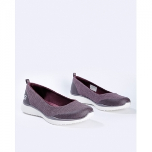 Skechers Purple Synthetic Round Toe Casual Shoes