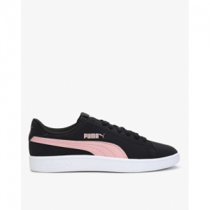 Puma Black Leather Lace Up Sport Shoes