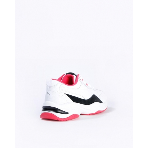 Puma White Synthetic Lace-Up Sports Shoes