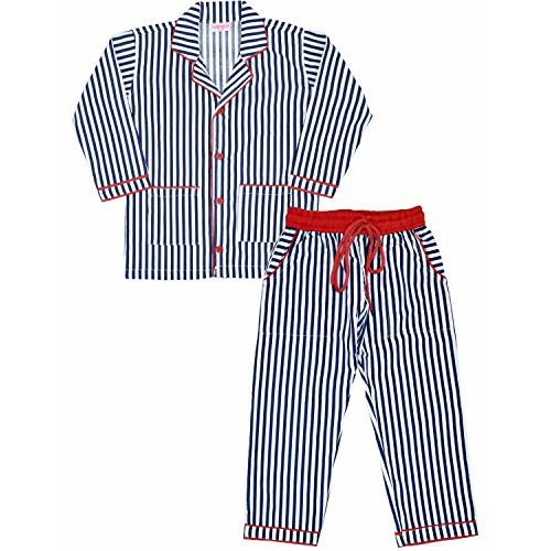 SHOPMOZO Unisex 100% Pure Cotton Striped Full Sleeve Printed Kids Wear Night Suit for Boys and Girls Full Pyjama and Top Combo Set (SM-00322UNISEXSWPT_6-7 Years Grey)