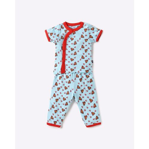 MOM'S LOVE Superman Graphic Print Nightsuit Set