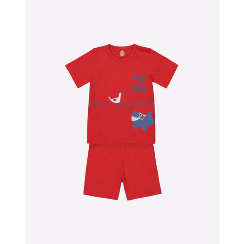 Mothercare Graphic Print T-shirt with Shorts