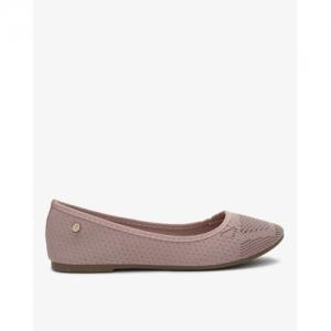 Carlton London Tan Mesh Round Toe Casual Shoes