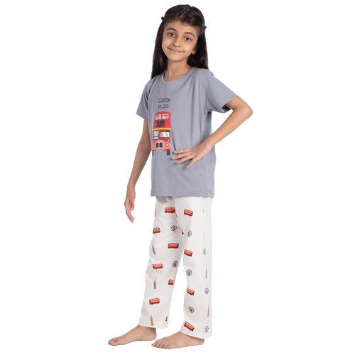 Nite Flite multi colored cotton pyjama set nightwear