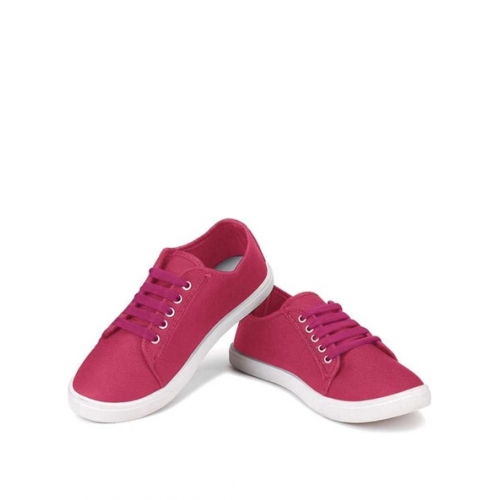 Long walk Pink Canvas Lace Up Casual Shoes