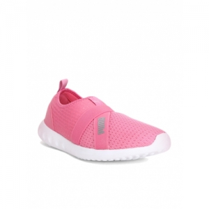 Puma Pink Mesh Lace Up Sneaker