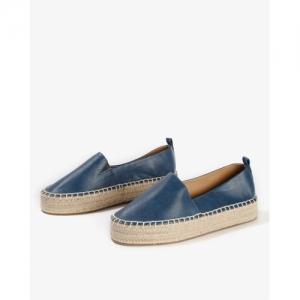 AJIO Navy Blue Denim Low-Top Solid Loafer