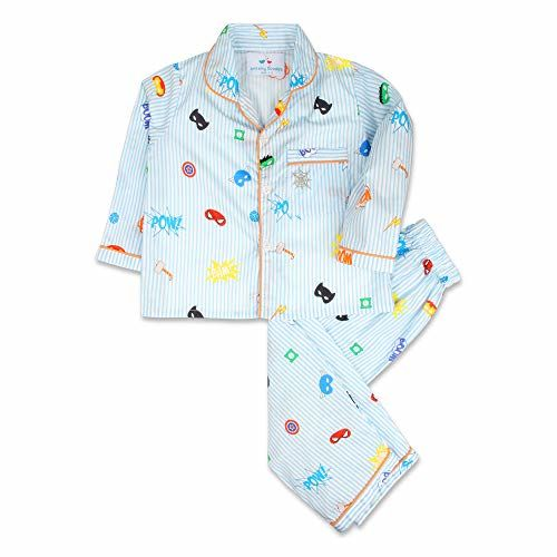 Knitting Doodles Cotton Baby Night Suit | Baby Boys Night Suit | Baby Girl Night Suit | Baby Night Suit Pyjama Sets | Baby Sleepwear Suits, Sky Blue (1-2 Years)