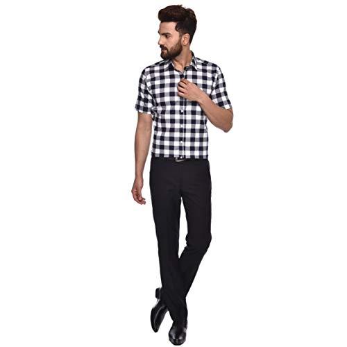 ACCOX GO164_HS Multicolour Cotton Checked Half Sleeves Casual Shirt