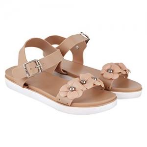 Do Bhai Beige Waterproof Flat Sandal