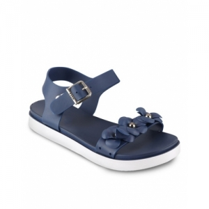 Do Bhai Blue Synthetic  Slip-On Sandals with Sling-Back