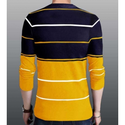 Try This Multicolour Cotton Color Block Full Sleeve T-Shirt