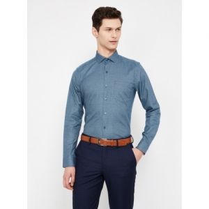 CODE Blue Cotton Checked Slim Fit Formal Shirt