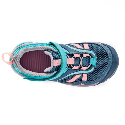 QUECHUA Kids Hiking Shoes (CROSSROCK) Velcro - Turquoise